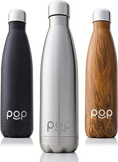 Goulot /Étroit et sans BPA Anti-Condensation et Anti-Fuites Garde Froid 24h ou Chaud 12h Isolant sous Vide en Acier Inoxydable POP Bouteille deau Isotherme de Design