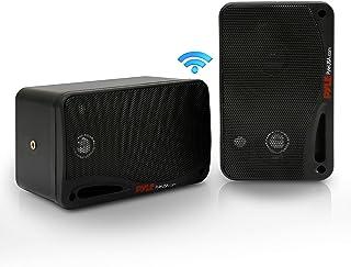 Jovial Outdoor Waterproof Wireless Bluetooth Speaker - 3.5 Inch Pair 3-Way Active Passive Weatherproof Wall, Ceiling Mount...