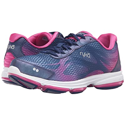 Ryka Devotion Plus 2 (Jet Ink Blue/Rose Violet/Chrome Silver) Women