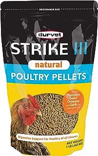 Dervet Strike III Natural Poultry Pellets, 1 Pound (Pack of 2)