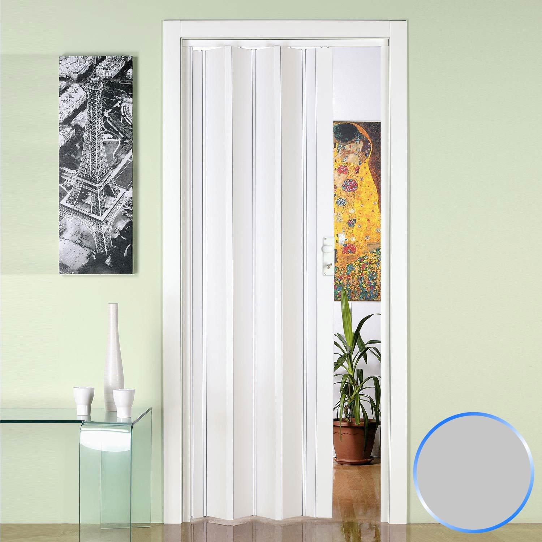 Forte Puerta Plegable de Interior de PVC Gris 88,5x214 cm Mod.Luciana: Amazon.es: Hogar