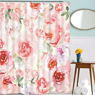 Martine Mall Shower Curtain for Bathroom Shower Curtain Bathroom Curtain Durable Oxford Fabric Bath Curtain Bathroom Accessories Ideas Kitchen Window Curtain (Pink, 70
