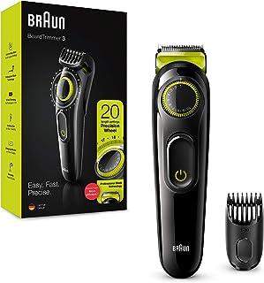 Braun Beard Trimmer, With Lifetime Sharp Blades Easily Cut Through Long Or Thick Hair, Precision Dial For 20 Length Settin...