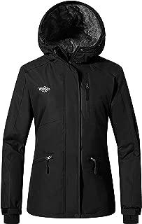Wantdo Women's Ski Jacket Mountain Raincoat Hooded Parka Waterproof Winter Coat