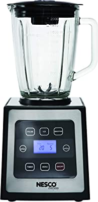 Nesco BL-90 Digital Control Blender with Stainless Steel Trim, 700-watt, Black