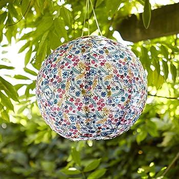 Lights4fun - Farol Solar de Jardín Chino con Diseño Floral y Luz ...