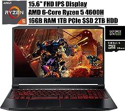 "Acer Nitro 5 15 2020 Premium Gaming Laptop I 15.6"" FHD IPS I AMD Hexa-Core Ryzen 5 4600H (>I7-9750H) I 32GB DDR4 512GB PCI..."
