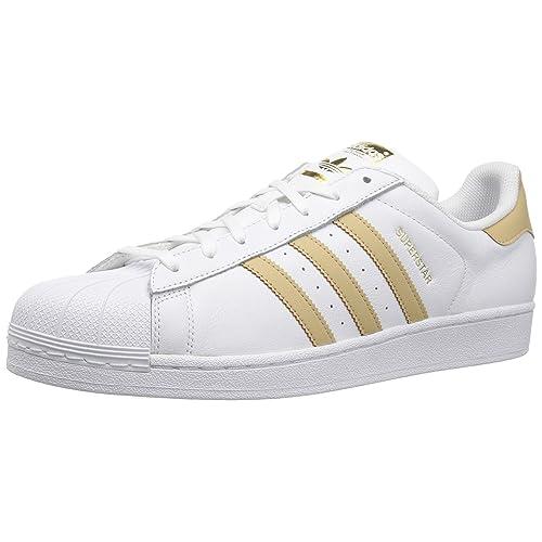 adidas superstar gold white