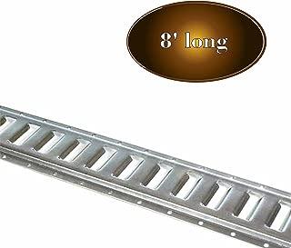 8-Foot E Track Tie-Down Rail, Trailer Accessory | Galvanized Steel, E Track Horizontal Rail for Cargo on Pickups, Trucks, Flatbeds