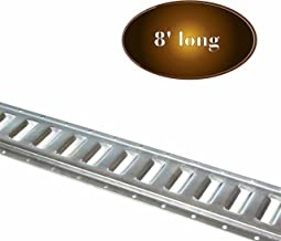 Three 8-ft E Track Tie-Down Rails | Hot-Dipped Galvanized Steel, ETrack Rail with Horizontal Slots, E-Tracks Tie Downs Trailer Accessories for Cargo on Truck, Flatbed, Trailers