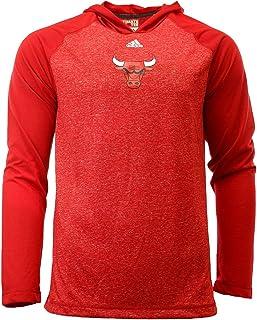 "Chicago Bulls Adidas NBA""Fade Away"" Hooded L/S Tshirt"