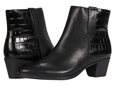 Munro Karsyn (Black Leather/Croc) Women