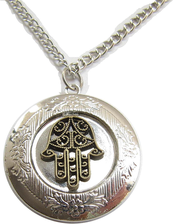 Sales results No. 1 Hamsa necklace hand of fatima neckl pocket Today's only watch locket