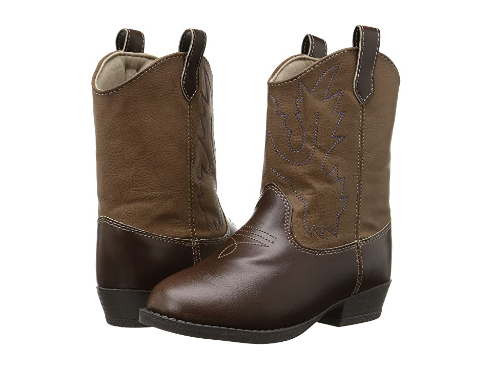 Baby Deer Western Boot (Toddler/Little Kid) (Brown) Cowboy Boots