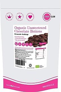 PINK SUN Chocolate sin Azúcar Orgánico 1kg (o 500g) 100% Masa de Cacao Para Cocinar Sólidos Puro Bio en Forma de Botón Pas...