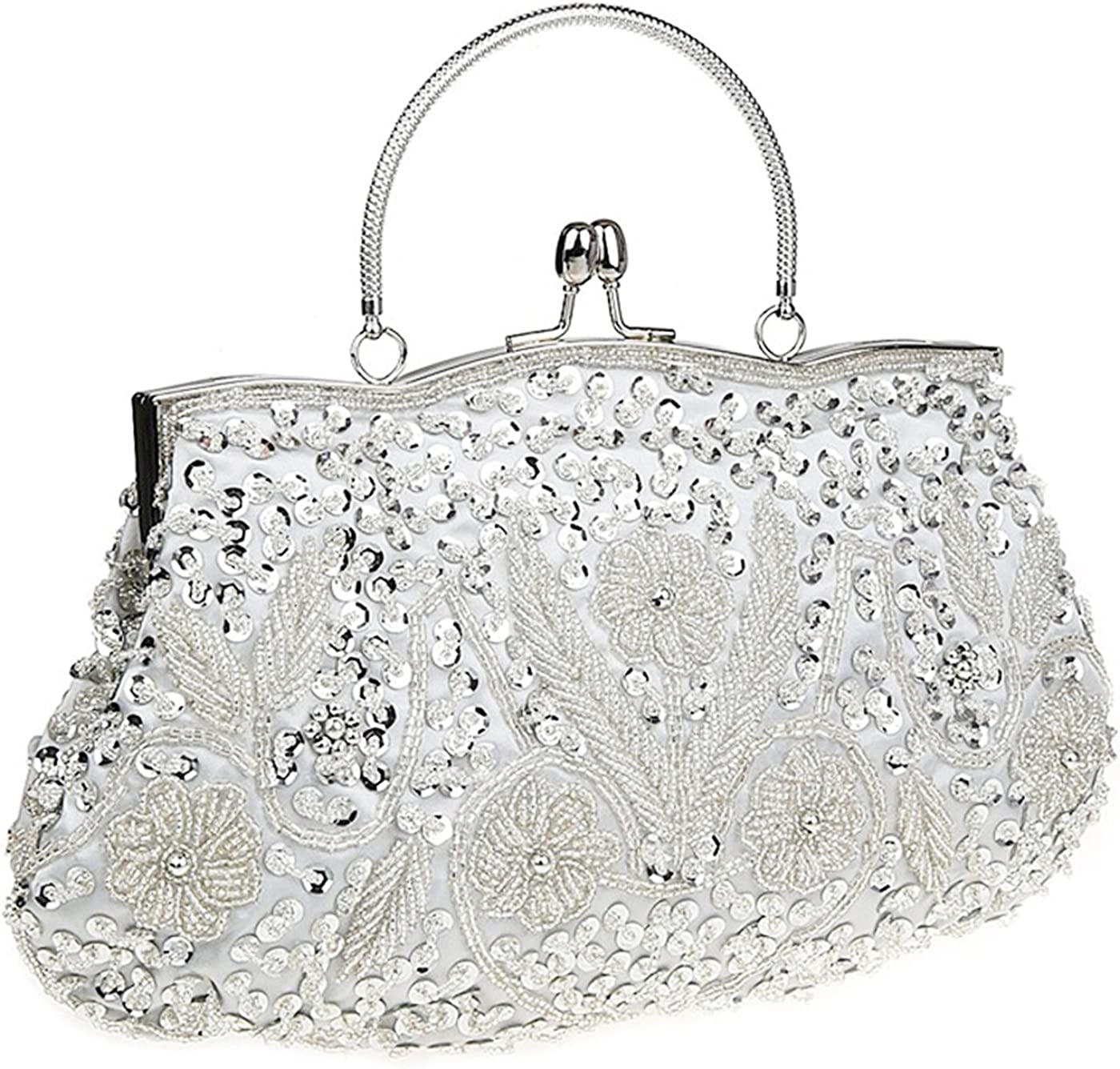 iToolai Satin Purse OFFicial San Jose Mall mail order Evening Handbags Bag Beaded Sequins Wedding