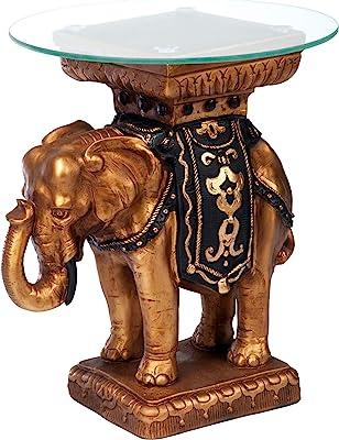 Design Toscano Royal Golden Bastet Egyptian Side Table KY4037