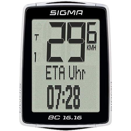 SIGMA SPORT Unisex Bc 16.16 Fahrradcomputer, schwarz,Einheitsgröße EU