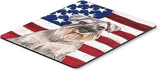Caroline's Treasures USA American Flag with Schnauzer Mouse Pad/Hot Pad/Trivet (KJ1158MP)