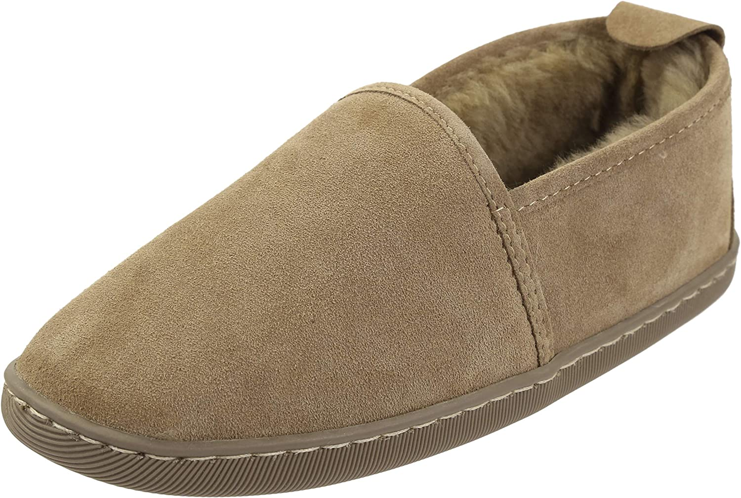 Vogar Womens Leather Slippers VG-31 Sheep Wool Lined
