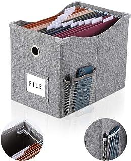 جعبه فایل کتانی با ریل کشویی فلزی برای اندازه نامه جعبه ذخیره سازی پرونده با جیب اضافی ذخیره سازی