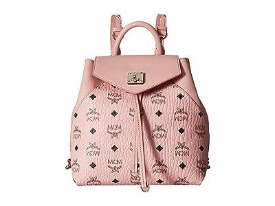 MCM Essential Visetos Original Backpack Small (Soft Pink) Backpack Bags