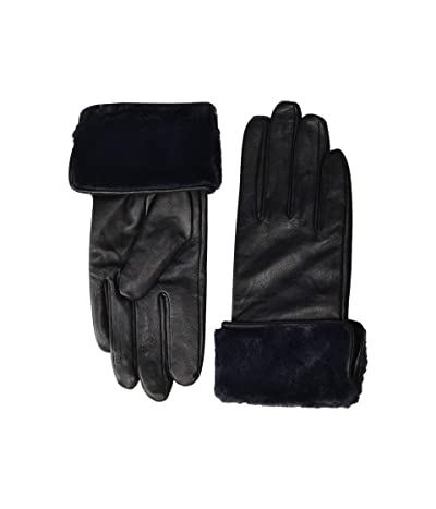 Echo Design Faux Fur Cuff Gloves (Black) Extreme Cold Weather Gloves
