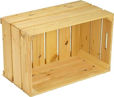 Caja de fruta pintada (54 x 35 x 30 cm), color madera: Amazon.es: Hogar