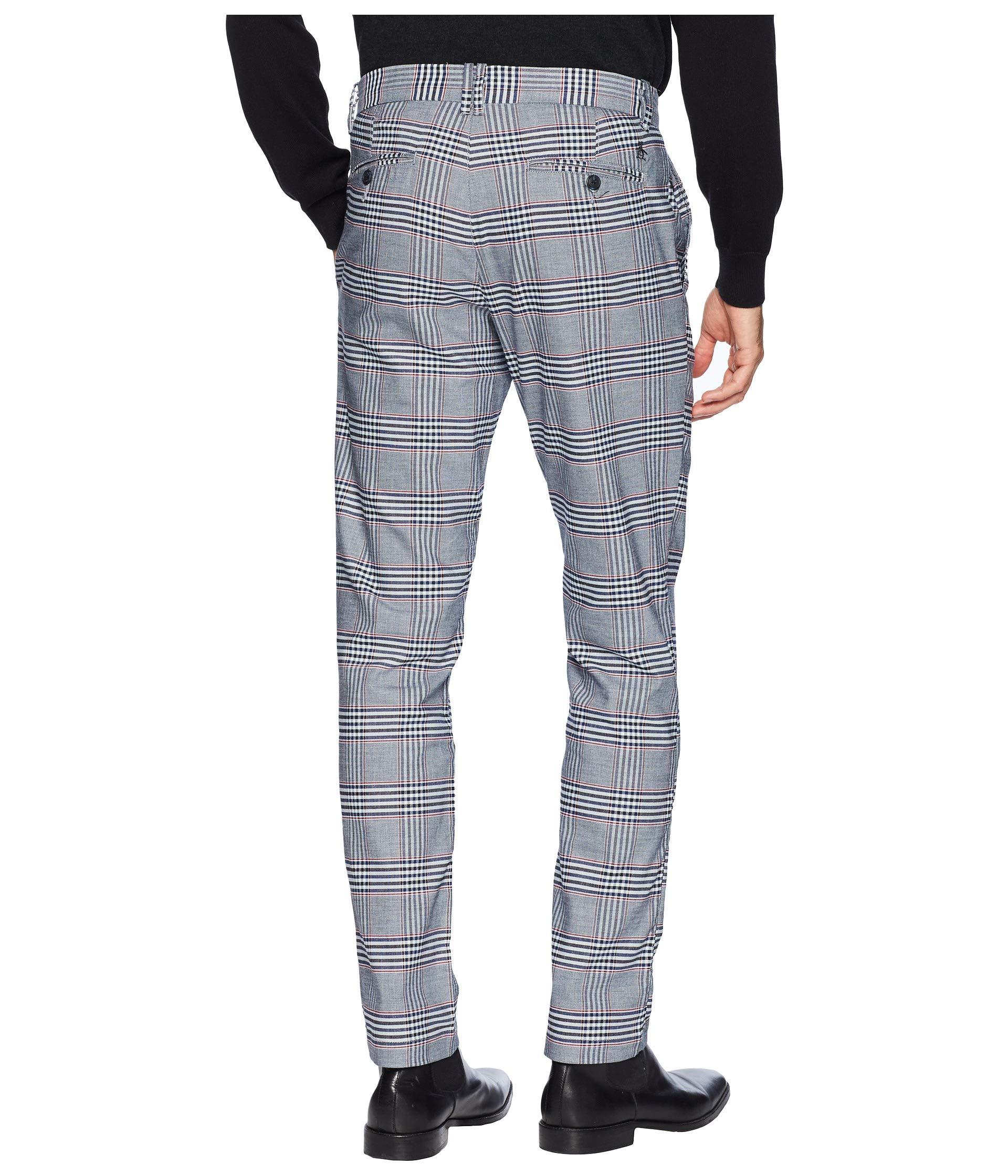 Large Pants Chino Plaid Classic Sapphire Original P55 Penguin Stretch Dark w7xt0a