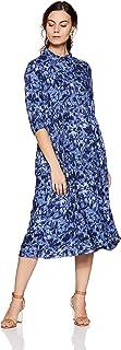 Rangriti Women's Velvet A-Line Dress