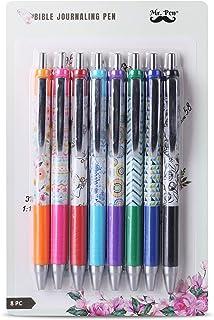 Mr. Pen- Bible Journaling Pens, 8 Pack, Assorted Color, Bible Pens, Bible Pens No Bleed Through, Bible Pens No Bleed, No B...