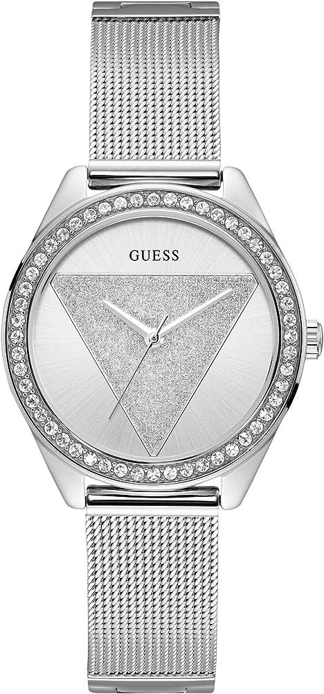 Guess, orologio analogico al quarzo per donna,  in acciaio inossidabile W1142L1