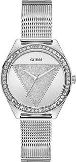 Guess Femmes Analogique Quartz Montre avec Bracelet en Acier Inoxydable W1142L1