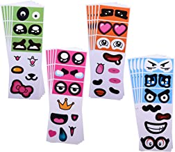 Bluecell 20pcs DIY Adhesive Face Expression Stickers Cartoon Emotional Eyes, Noses, Mouths