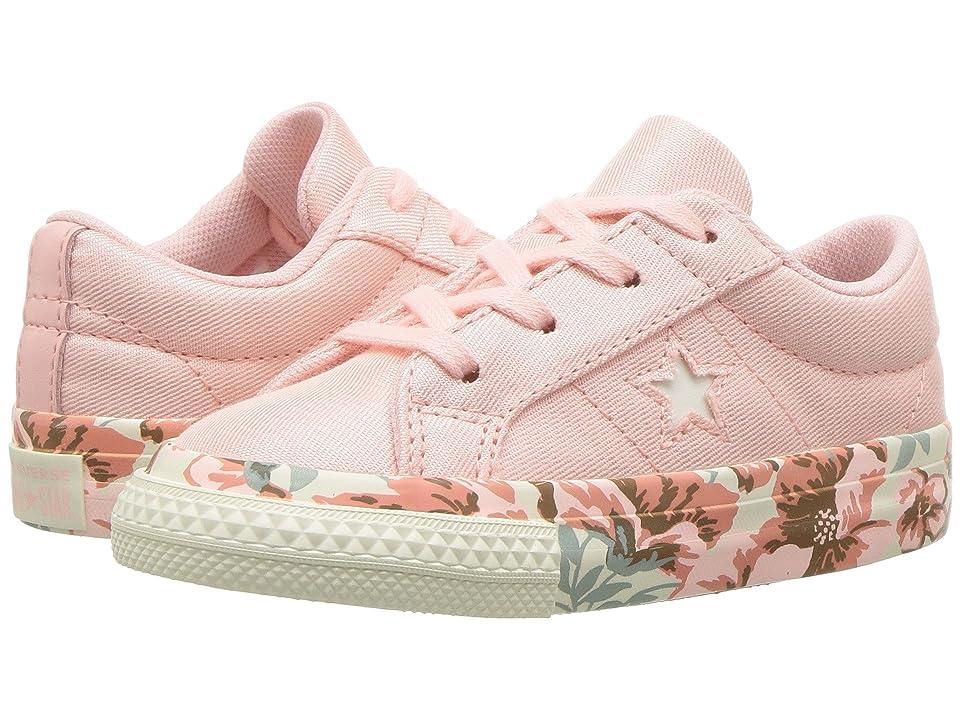 Converse Kids One Star Ox (Infant/Toddler) (Storm Pink/Egret/Desert Peach) Girls Shoes