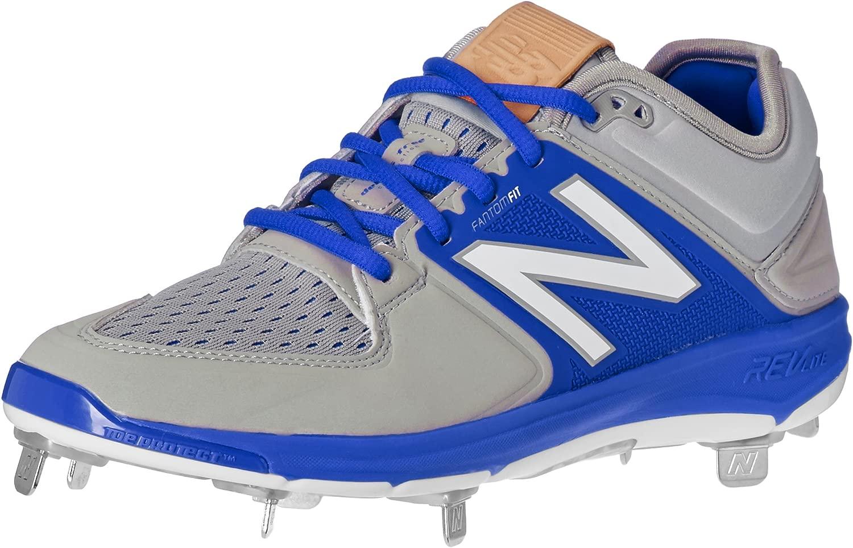New Balance Balance Balance Men's l3000v3 Baseball schuhe, grau Blau, 10.5 D US 0af