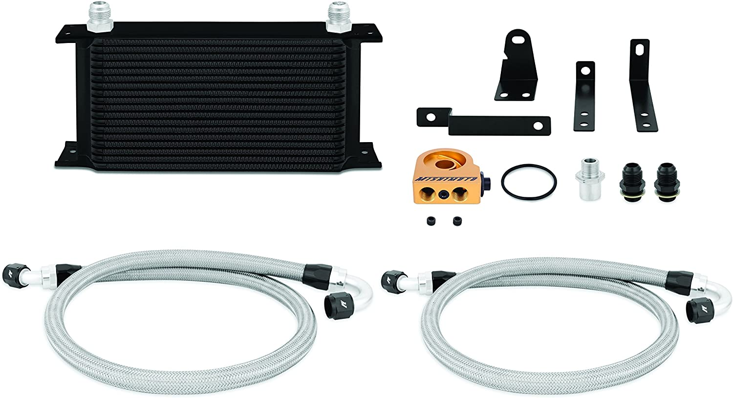 Mishimoto MMOC-S2K-00TBK Oil Dallas Popular standard Mall Cooler Thermostatic Kit Compatible