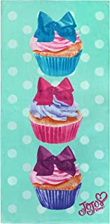 Jay Franco Nickelodeon JoJo Siwa Cupcake Kids Bath/Pool/Beach Towel - Super Soft & Absorbent Fade Resistant Cotton Towel, Measures 28 inch x 58 inch (Official Nickelodeon Product)