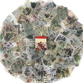 Herefun 365pcs Papier Vintage Scrapbooking, Scrapbooking Stickers Vintage, Autocollants Scrapbooking Retro, Scrapbooking A...