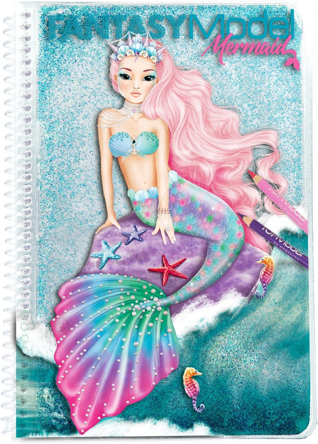 Fort Worth Mall Spasm price Depesche 10036 Fantasy Model Book Colouring Mermaid Multicolour
