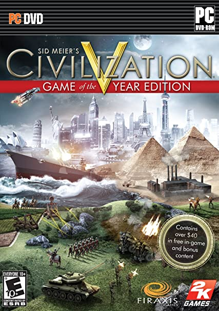 Amazon Com Sid Meier S Civilization V Game Of The Year Pc Video Games
