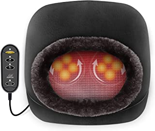 Snailax 2-in-1 Shiatsu Foot and Back Massager with Heat - Kneading Feet Massager Machine with Heating Pad, Back Massage Cushion or Foot Warmer,Massagers for Back,Leg,Foot Pain Relief