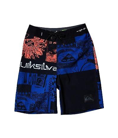 Quiksilver Kids Highline Rave Wave Boardshorts (Big Kids) (Black) Boy
