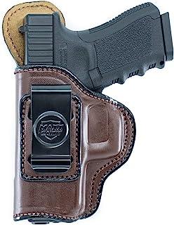 Maxx Carry IWB Leather Gun Holster for Glock 17, 22, 48 9 mm   Ruger SR9, SR40  Springfield XDE 4.5 inch   Diamondback FS9