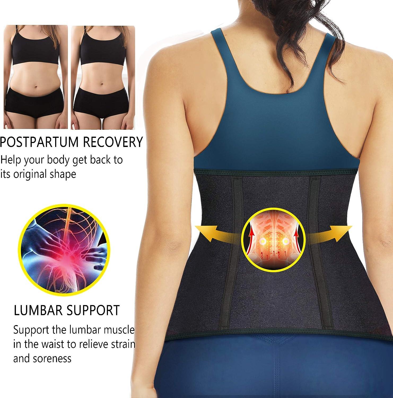 Cintura in neoprene per allenamento in vita con corsetto per cintura HOPLYNN