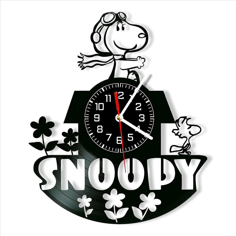 Snoopy Vinyl Clock, Wall Clock 12 inch, Original Gifts, The Best Home Decorations, Unique Art Decor, Original Idea for Home Decor