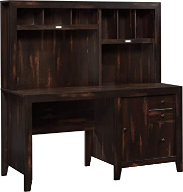 Sauder Dakota Pass Computer Desk, Char Pine Finish