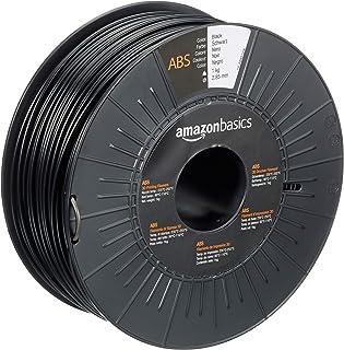 Amazon Basics ABS 3D Printer Filament, 2.85mm, Black, 1 kg Spool