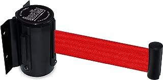 Tensator QWAYWALL-R5 QwayWall - Wall Mounted, Black Finish, Red 7'6