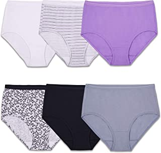 Women's Tag Free Cotton Brief Panties (Regular & Plus Size)